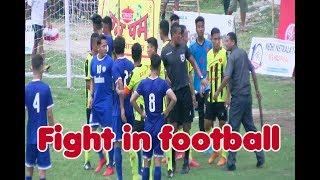 आर्मीका खेलाडी कुट्न जब मैदान छिरे दर्शक    Fight in Football    4th Mechinagar Goldcup
