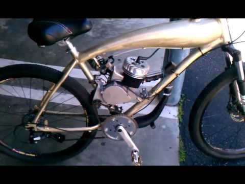 Bicycle Frame With Gas Tank