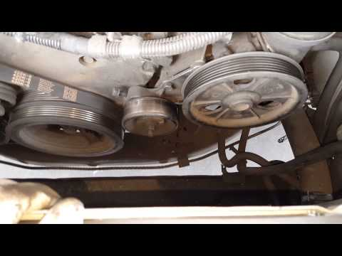Dodge Intrepid  alternator removal 2.7 2002