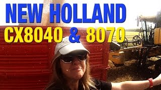 MUST SEE! New Holland CX8040 & 8070 *rice harvesting 2014*