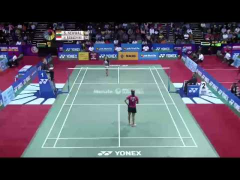Saina Nehwal vs Hana Ramadhini | QF Match 4 - YONEX Sunrise India Open 2015