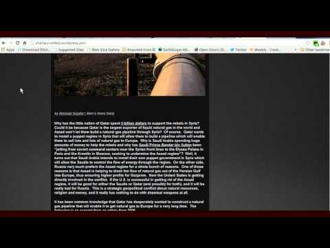 Syrian News-The Truth Behind the War in Syria The Qatari Natural Gas Pipeline -- Obamas War for Oil
