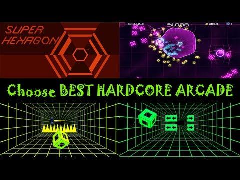 Лучшие хардкорные аркады с минималистичной психоделической графикой для Android