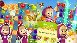 Masha and The Bear Jam Day Match 3 games for kid