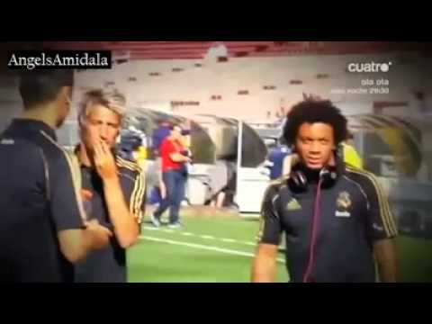 funny moment with Cristiano, Marcelo, Coentrao and Mourinho