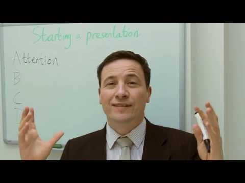 How to start a killer presentation in English. Presentation opening. Business English lesson