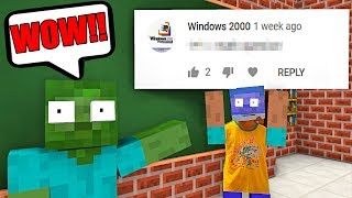 Monster School : REACTING TO COMMENT - Minecraft Animation