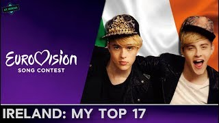 Ireland In Eurovision: MY TOP 17 (2000-2017)
