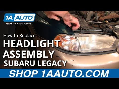 How To Replace Change Headlight and Bulb Subaru Legacy Outback 96-99 1AAuto.com
