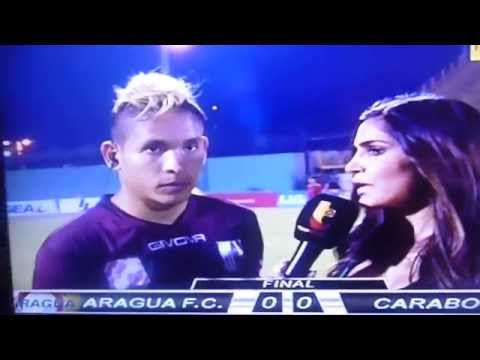 Watch a Venezuelan footballer get kicked in the back while giving TV interview in cowardly attack