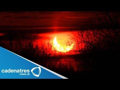 IMPRESIONANTES imágenes del eclipse parcial del sol (VIDEO)