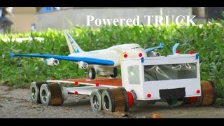 How to make a battery powered truck - Easy - Airplane Transport truck