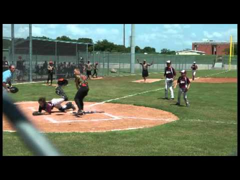 Texas Aggies Catcher Gets TRUCKED By Runner - Umpire Ejects Runner From The Tournament