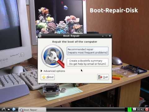How to boot repair Linux grub