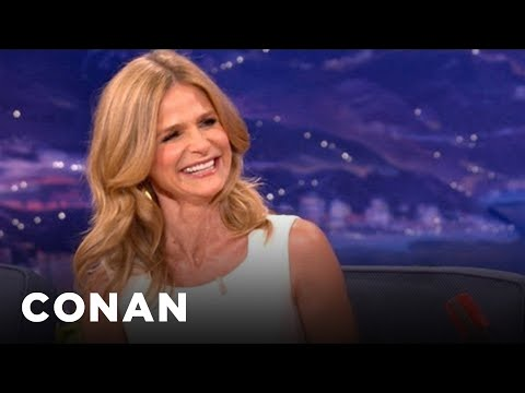 Kyra Sedgwick Reveals How Kevin Bacon Asked Her Out - CONAN on TBS