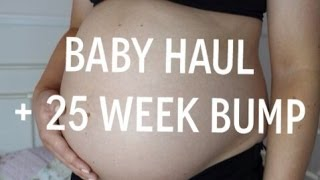 PREGNANCY VLOG 6- Baby Haul + 25 Week Bump