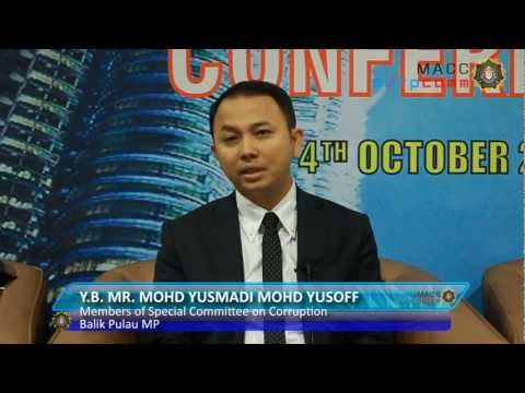 Y.B. Yusmadi Yusoff - The Role of Special Committee on Corruption.wmv