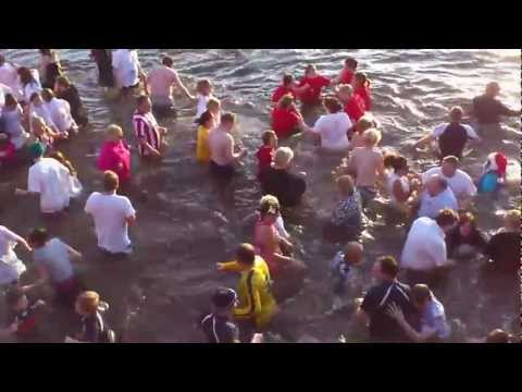 2012 New Year's Day Dook at Broughty Ferry Harbour