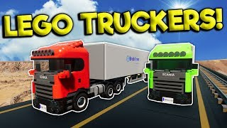LEGO DIESEL TRUCK DRIVERS FIND ALIENS!? - Brick Rigs Roleplay Gameplay - Lego City Truck Simulator