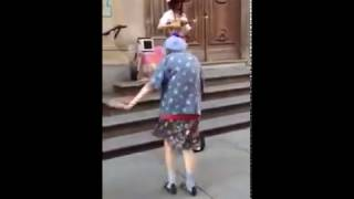 97 year old women dancing in the streets on Italy