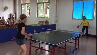 Ping pong avec ma tante