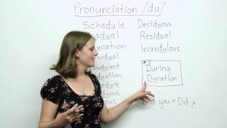 Pronunciation - DU - education, schedule, individual, procedure...