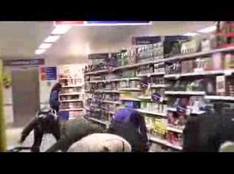 Thriller dance in Tesco