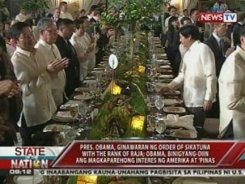 SONA: State dinner inihanda ng Malacañang para kay Obama, dinaluhan ng mga VIP