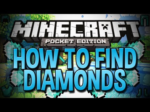 *NEW* How To Find Diamonds In Minecraft Pocket Edition (0.8.1) - Easy Minecraft PE Tutorial