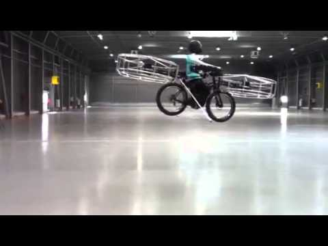 flying bike in the air