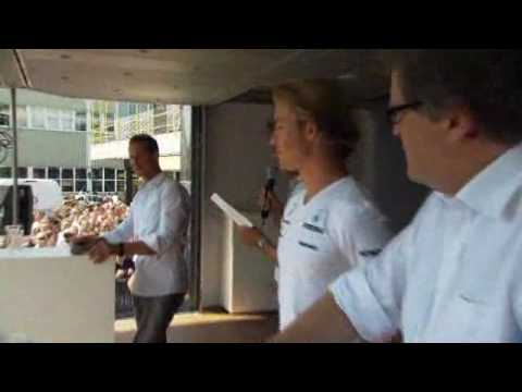 Nico Rosberg & Michael Schumacher Visit to a Mercedes plant in Sindelfingen(In German)