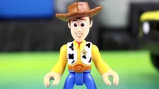 Toy Story 4 Benson + Benson Minis Try Take Over Imaginext Batman Batcave