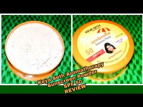 |Keya Seth Aromatherapy Umbrella Sunscreen Powder SPF 50/PA+++/UVA/UVB Review|Pooja sk TV|