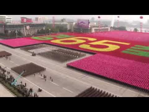 Espectacular desfile militar del ejército popular de Corea del Norte parte 1 de 2