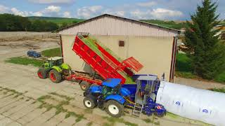 Maize silage bagging with EB 310 LG EURO BAGGING bagger.