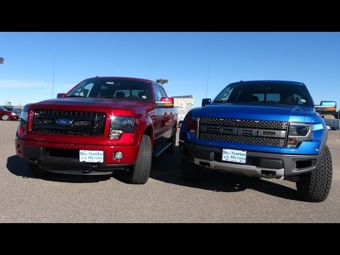 TFL 2014 Ford F-150 SVT Raptor vs Ford FX4 Mashup Review ...