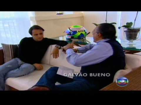 Felipe Massa fala a Galvão Bueno sobre o acidente no Fantástico