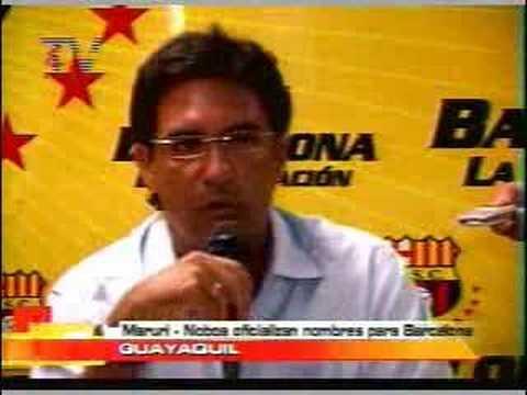Maruri, Noboa oficializan nombres para Barcelona