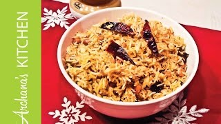 Puliyodharai / Puliyogare Recipe (Spicy Tamarind Rice) by Archana's Kitchen