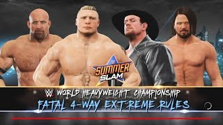 WWE 2K17-Brock Lesnar vs A.J. Styles vs Goldberg vsThe Undertaker-Fatal 4-Way for WWE Championship