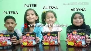 KIDS TRY Samyang Challenge (Malaysia) MUKBANG MALAYSIA. GENG MAKAN.