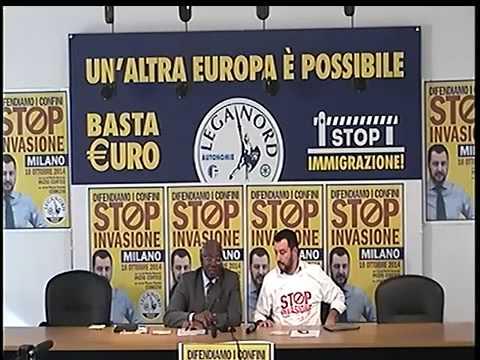 Conferenza stampa STOP INVASIONE - Matteo Salvini e Toni Iwobi (01/10/2014)