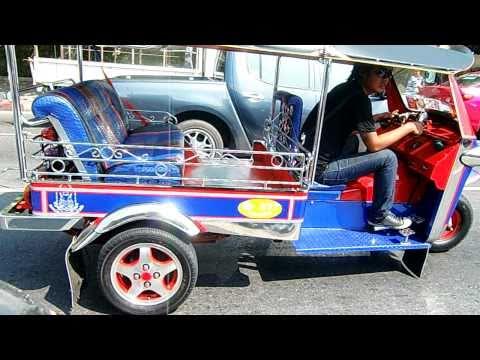 Colourful Tuk Tuk (motorbike taxi) in Thailand. ตุ๊ก ตุ๊ก