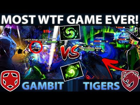 TIGERS vs GAMBIT - MOST WTF GAME EVER! Rubick vs Enigma - CRAZY COMEBACK KL Major Dota 2