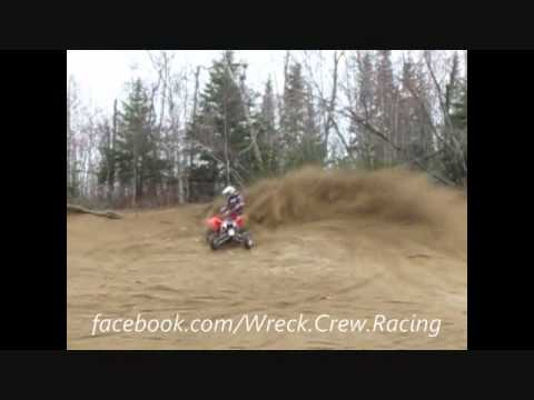 Yamaha yfz450 gytr vs Ktm polaris outlaw 450 mxr sand pit quad movie W