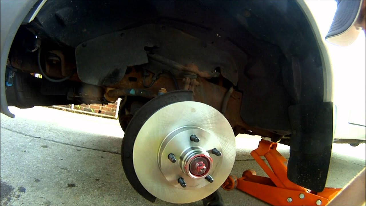 ford ranger brake rotor  wheel bearing replacement  wd youtube