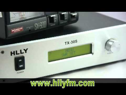 HLLY TX-30S 30W FM transmitter for FM Broadcast Professional Transmitter