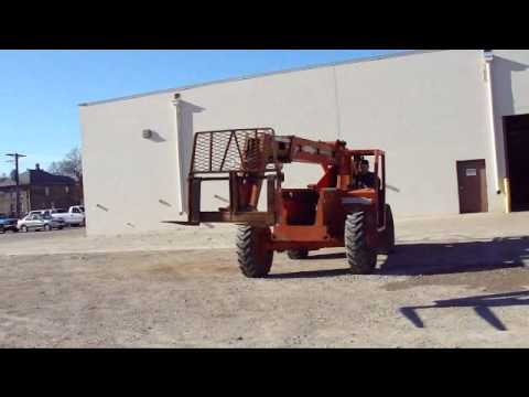 Online Auction Traverse Lift TL 8040 Rough Terrain Telescoping Fork Truck