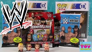 WWE Teenymates Funko Pop Heritage Trading Cards Opening 2 | PSToyReviews