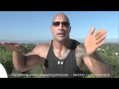 The rock sings john cena theme song the rock goes crazy youtube